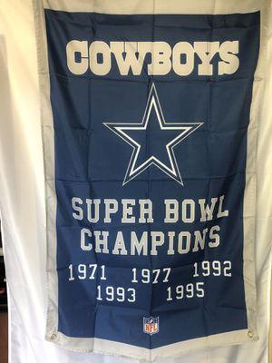 Dallas Cowboys Champions Wall Banner (3'x5') for Sale in Mokena, IL