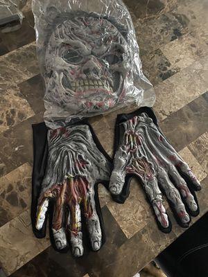 Zombie mask w wig n gloves for Sale in San Antonio, TX