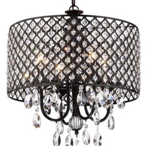 Marya 4 Light Antique Black Round Chandelier With Crystals for Sale in Kissimmee, FL