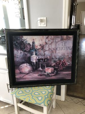 Wine picture frame Le Chateau by Marilyn Hageman for Sale in Tampa, FL