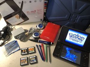 Nintendo DSi XL Handheld Lot W/ 4 Games Pokemon, Phineas and Ferb Indiana Jones two toy story three. See photos. Adult Owned . With charger for Sale in Lowellville, OH