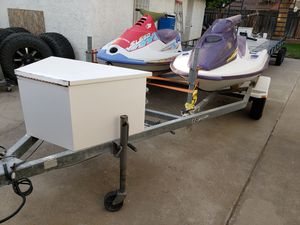 Watercraft trailer 2 non running jet skis for Sale in Fresno, CA