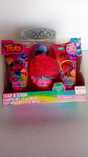 DreamWorks troll's 4 PC shampoo and body wash for Sale in Phelan, CA
