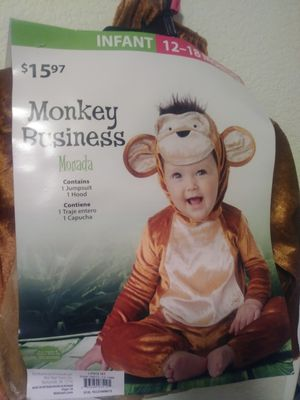 Infants Halloween costume cute Monkey size 12-18 months for Sale in Tice, FL