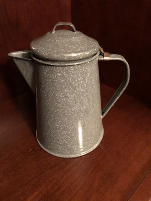 Gray Enamelware Vintage Coffee pot for Sale in Virginia Beach, VA