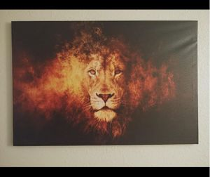 New Lion Head Portrait Wall Art Painting Pictures Print On CanvasAbstract for Sale in Naples, FL