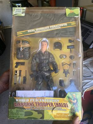 Power Team Airborne Trooper (Halo) action figure for Sale in Moreno Valley, CA
