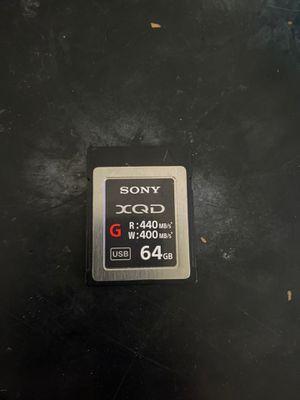 Sony XQD 64GB Memory Card for Sale in Phoenix, AZ