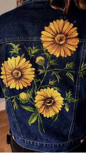Painting on denim/ you provide jacket or jean/ price varies/ ask your questions for Sale in Los Angeles, CA