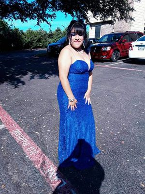 Royal Blue Lace Prom Dress Size Large for Sale in Dallas, TX