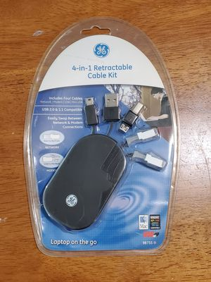 GE 4-in-1 Retractable Cable Kit (New In Box) for Sale in Lynnwood, WA