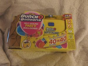 Brand new in box bunch of balloons fill your Balloons with no hassle self ties with strings also refillable can you use any color for Sale in Vancouver, WA