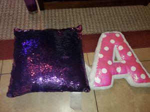 2 flip sequins pillows for Sale in Tucson, AZ