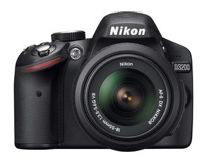 Nikon D3200 24.2 MP CMOS Digital SLR with 18-55 mm f/3.5-5.6 Auto Focus-S DX VR NIKKOR Zoom Lens for Sale in Indianapolis, IN