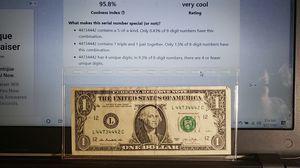 2013 $1 Fancy / Rare - San Francisco Mint Bank Note for Sale in Coolidge, AZ