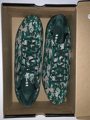Under Armour Spotlight LE Green Camp Cleats Sz 14 for Sale in Orlando, FL