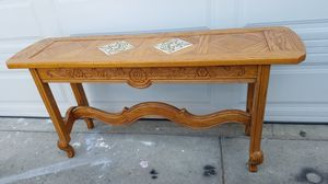 Solid wood console table. (It's heavy) for Sale in San Mateo, CA