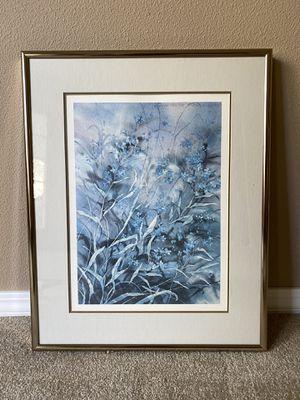 Blue flowers picture for Sale in Spokane, WA