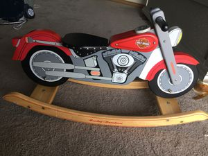 Vintage Kid Kraft Harley Davidson Red Wooden Rocking Horse Motorcycle Nice Chair for Sale in Casselberry, FL