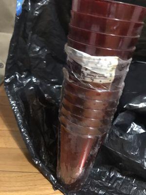 12 Red plastic Tumbler cups for Sale in Petersburg, VA