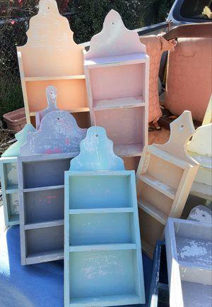 Painted Wooden Shelves for Sale in San Bernardino, CA