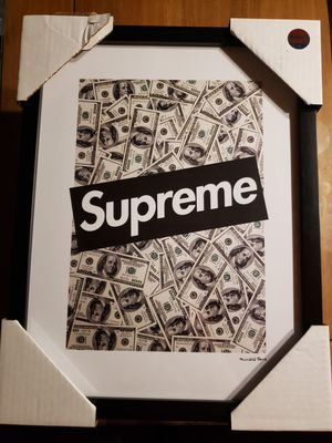 SUPREME 100'S X FAIRCHILD PARIS WALL ART DECOR...BRAND NEW for Sale in Bakersfield, CA