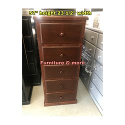 Brown Chest Pine Wood With 5 Drawers for Sale in Bell Gardens,  CA