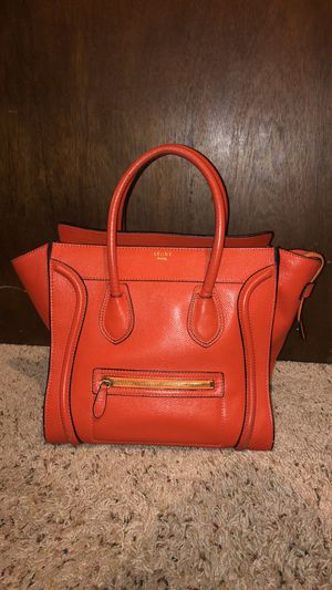 AUTHENTIC CELINE ORANGE MINI LUGGAGE TOTE BAG for Sale in Taylor, MI
