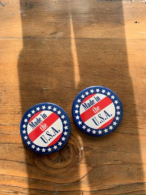2 made in the U.S.A. Pin on buttons for Sale in Wenatchee, WA
