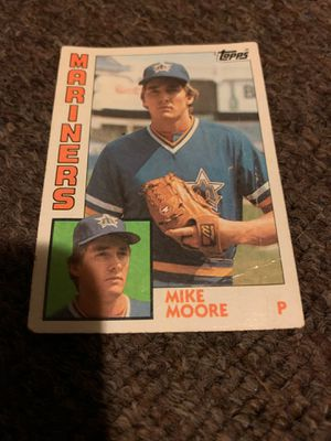Topps. 1982 / 1983 pitcher Mariners he pitched 5-0shutout against Detroit Tigers 7-16-83 for Sale in Akron, OH