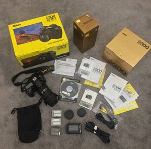 Nikon D300 DX 12.3 / Nikon lenses 18-200mm VR / 35mm 1.8 for Sale in Los Angeles, CA