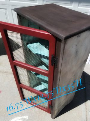 Red, White & Blue Screened Door Cabinet for Sale in Northglenn, CO