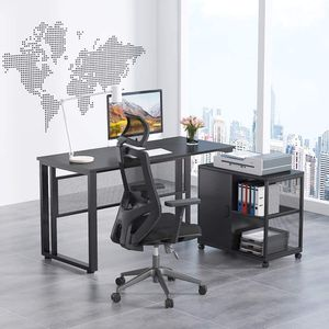55 Inch Computer Desk Study Writing Table Workstation with Storage 360° Rotating File Cabinet for Home Office Furniture for Sale in Los Angeles, CA