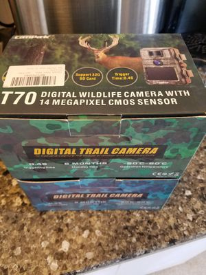 2 - T70 wildlife digital cameras with sim cards for Sale in Mount Vernon, WA