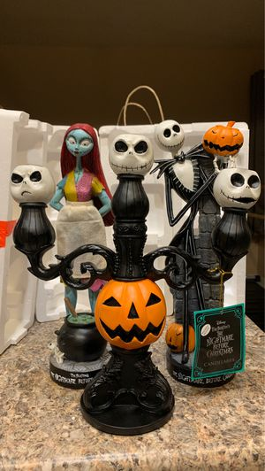 Nightmare before Christmas candelabra, Jack, sally set for Sale in Phoenix, AZ