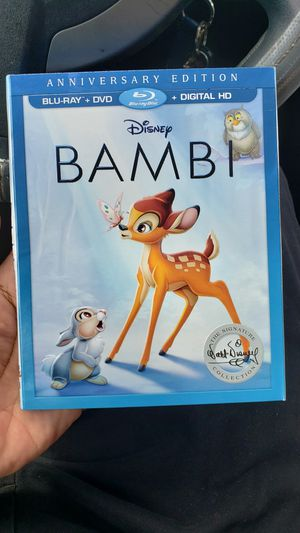Bamby Disney Bluray Movie * New - No Digital* for Sale in Fort Worth, TX