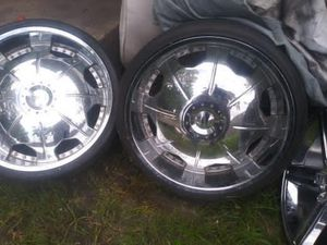 24s rims and tires for Sale in Dallas, TX