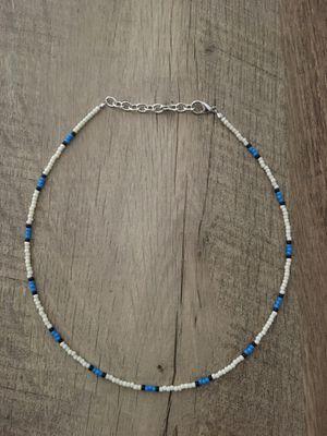 classic white and blue choker for Sale in Stone Ridge, VA