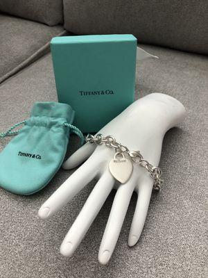 Vintage Tiffany & Co. Heart Charm Bracelet for Sale in Sanford, FL