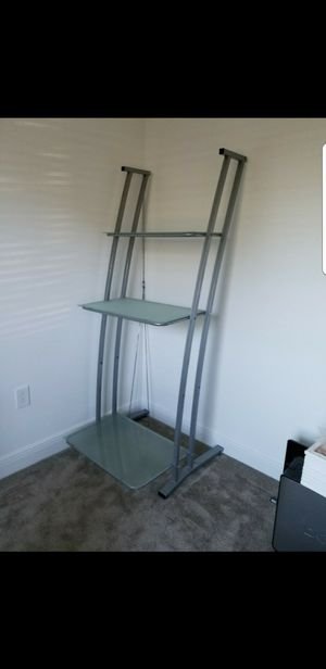 Glass Bookshelf with 3 Shelves for Sale in Tampa, FL