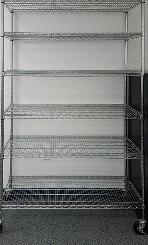 (x2) 6-Tier Wired Metal Rack Shelves $225.00 Obo for Sale in Seattle, WA
