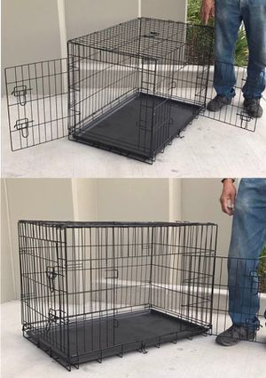 New in box 36x23x25 inches tall 2 doors foldable dog cage crate kennel for pet up to 70 lbs for Sale in Whittier, CA