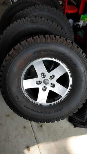 Jeep JK wheels with BF Goodrich All-terrains for Sale in Pasadena, CA