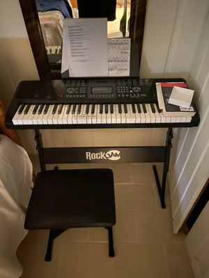Rock jam Electric key board, Stand and stool for Sale in Washington, DC