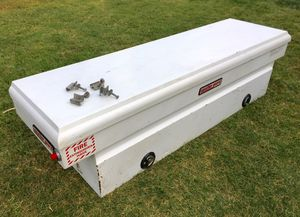 Weather Guard Heavy Duty Steel Saddle Box for Full Size Trucks ((( $335 OBO))) ❗️Good Conditions ❗️with Key 🔑 for Sale in Riverside, CA