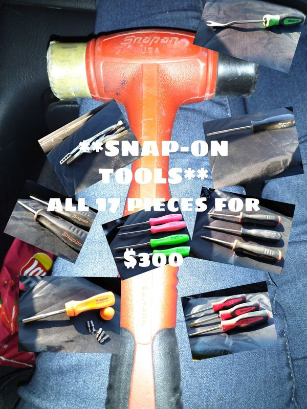 The whole lot of snap on tools 17 pieces