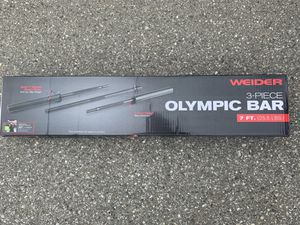 OLYMPIC BAR WEIDER 3 PIECE (7FT) for Sale in Montebello, CA
