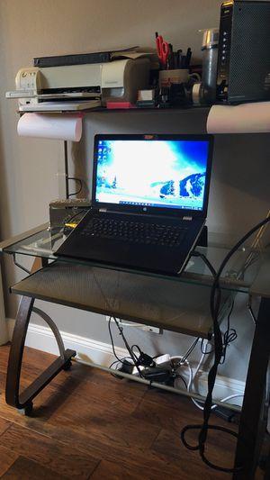 Glass computer desk for Sale in Eustis, FL