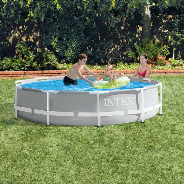 Intex 26700EH 10ft x 30in Prism Metal Frame Above Ground Backyard Swimming Pool (No Pump)