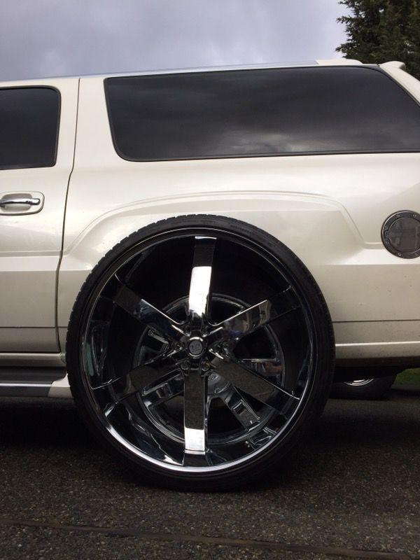 """30"""" Inch U2 55 wheels rims and tires 6lug 6x5.5 or 139.7 ..."""